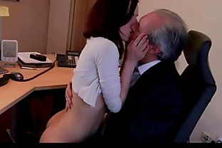 Cutie young secretary horny for boss old cock fucks in 69 cum swallowing
